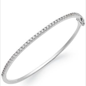 Arabella Sterling Silver Swarovski Zirconia Bangle